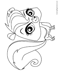Small Picture Littlest Pet Shop Coloring Pages Monkey Coloringstar Coloring