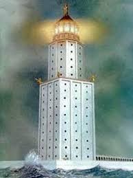 Реферат по предмету мхк на тему Древняя Греция Фаросский маяк  Верхняя башня формой напоминала цилиндр в котором горел огонь помогавший кораблям благополучно достигнуть бухты На вершине башни стояла статуя Зевса