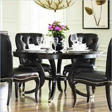enchanting black dining room sets round and best 25 round dining room black round dining table