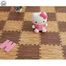 eva foam mats for children crawling play mat imitation wood floor exercise gym rose flower soft cutting baby