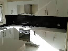 Black Gloss Kitchen Kitchen Classic Black And White Subway Tile Backsplash Ideas For