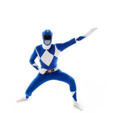 Light Blue Power Ranger Costume Blue Power Rangers Morphsuit