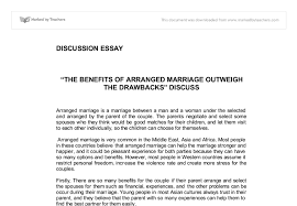 the benefits of arranged marriage outweigh the drawbacks discuss document image preview
