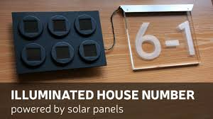 door number light solar wall