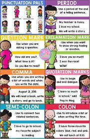 best punctuation posters ideas descriptive punctuation posters