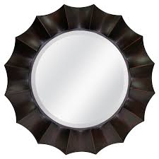 allen roth oil rubbed bronze beveled round wall mirror