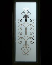 Sandblast Glass Designs Gallery Frosted Glass Entry Window Ironwork Design Lovely Lovely