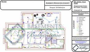 basement design services. C) One Large Scale Proposed Basement Design Services