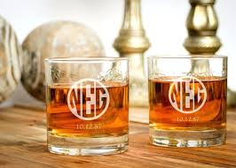 personalized crystal rocks glasses whiskey from monogrammed glass e