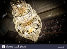 a crystal glass chandelier stock image