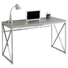 office metal desk. Chrome Metal Computer Desk - Dark Taupe EveryRoom Office D