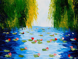 waterlily pond natasha petrosova original oil painting impressionism trees 1 of 5only 1 available see more