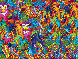 jungle themed trippy background template