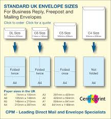 Envelope Size Chart For Printers 65 Right Envelope Dimensions