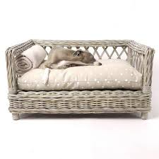 wicker dog bed.  Bed Product _vendor Raised Rattan Dog Basket Bed  STYLETAILS In Wicker E