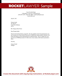 Sample Of Rent Increase Letter Rental Increase Letter Template Business