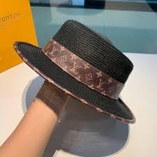 Ladies Designer Sun Visors Designer Hat Lady Flat Top Hat Old Leather Lace Generous Leisure Hat Fashion Elegant Style Women Hats Sun Visor Cap Panama Hats Fedora Hats From