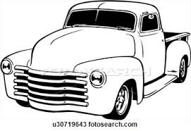 Chevy Pickup Truck Clipart
