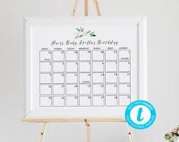 Due Date Calendar Etsy
