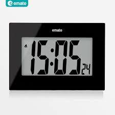 snooze alarm clock lcd modern
