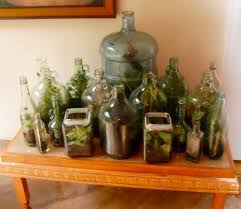 reusing glass containers for terrariums