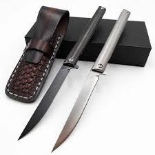 <b>JSSQ</b> Pocket <b>Folding Knife</b> D2 Blade Titanium Handle Mini Outdoor ...