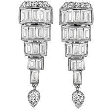 antique 2 60ct diamond drop earrings