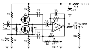 portable mixer red page53 circuit diagram input amplifier