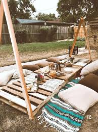 backyard #decor   Outdoor dinner parties, Boho outdoor, Boho picnic