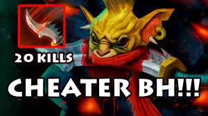cheater in dota 2 bounty hunter using new hacks youtube