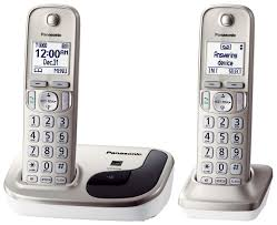 panasonic kx tgd212n dect 6 0 2 handsets cordless phone eco mode silence mode conference caller id wall mount up to 6 handsets