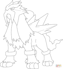 Small Picture Entei Pokemon coloring page Free Printable Coloring Pages