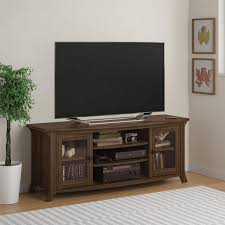 entertainment center decor with rustic entertainment center and white wall design also lighting lamp for modern family room ideas