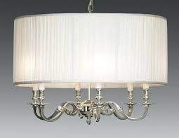 drum light chandelier brass and drum style fabric shade six light chandelier drum light fixture