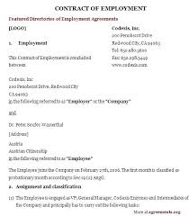Free Employment Contract Templates Employees Contract Template Zero Hour Form Free Hours Employment Uk