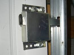 garage door lock installation from inside using side