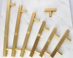cabinet handles. Modern, Square, Gold Drawer Knobs, T-Knob Handles, Pull, Cabinet  Handles Cabinet Handles