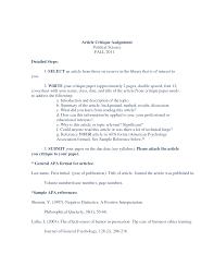 Nursing Article Critique Essay