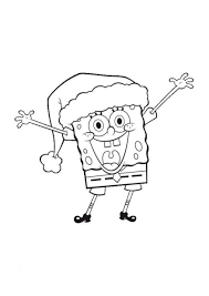 Happiness Spongebob Coloring Pages Of Christmas Christmas Coloring