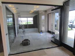 herculite glass door office install mira mesa