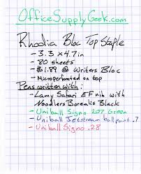 rhodia bloc top staple graph paper notebook review officesupplygeek rhodia notebook graph paper writing sample