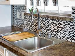 Diy Tile Backsplash Kitchen Make A Renter Friendly Removable Diy Kitchen Backsplash Hgtv