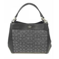 NWT Coach F29548 Small Lexy Signature Jacquard Shoulder Bag Handbag w Gift  Box
