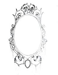 mirror frame drawing. Fine Drawing Vintage Mirror Frames Antique Frame Rare Mirrors From Decoration  Pencil   With Mirror Frame Drawing S