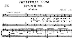 O holy night, free christmas flute sheet music notes Adam O Holy Night Cantique De Noel In E Flat High Low Sheet Music Download