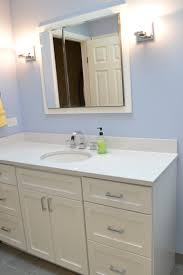 Bathroom White Cabinets Cambria Quartz Color Whitney Paired With Painted White Vanity