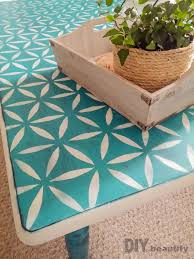 don t throw that table away stencil it for a fresh new look