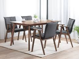 Dining Table Rubber Wood 150x90 Cm Dark Brown Madox