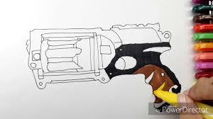 Nerforing Pages Blaster Guns Sheets War Gun To Print Stirring Nerf