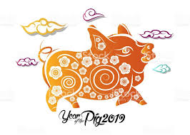 Chinese New Year Greeting Card 2019 Year Of Pig In Chinese Calendar